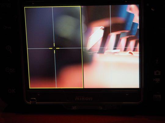 Her vises et utsnitt fra de to ytterkantene i bildet.