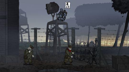 Tyske Karl under et fluktforsøk fra et fengsel.