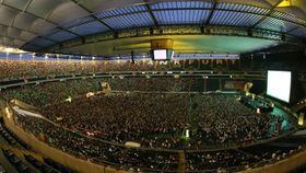 Fra en konsert i Commerzbank Arena.
