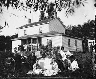 Bilde av familien Skavlem i Wisconsin, USA.