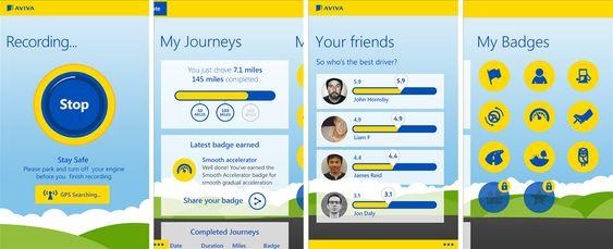 Slik ser Aviva-appen ut i bruk.