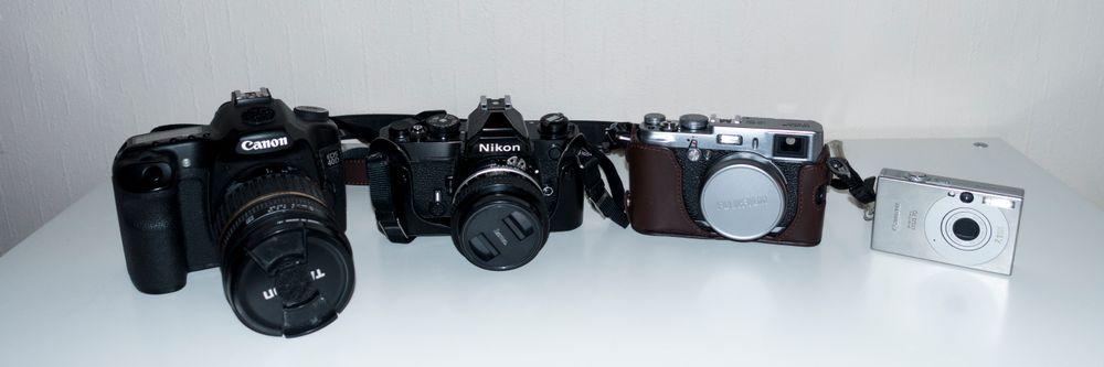 De ulike kameraene har ulike fordeler, og ulemper.