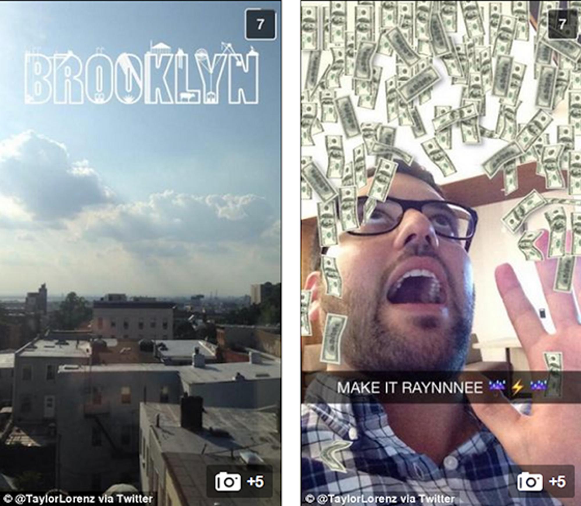 Nye filtre i Snapchat.