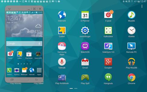 Samsungs Touch Wiz-menyer ser fortsatt ut slik vi er vant til, men en del nye funksjoner har kommet til.