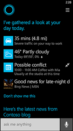 Cortana skal være din nye, personlige hjelper.