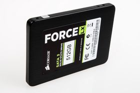 Corsair Force LX 512 GB SSD.