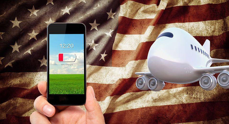 Pass på å ha ladet mobil før USA-turen