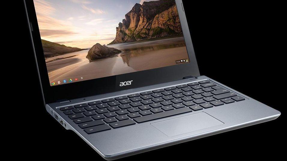 Acer C720 er en av de mest populære Chromebookene i USA.