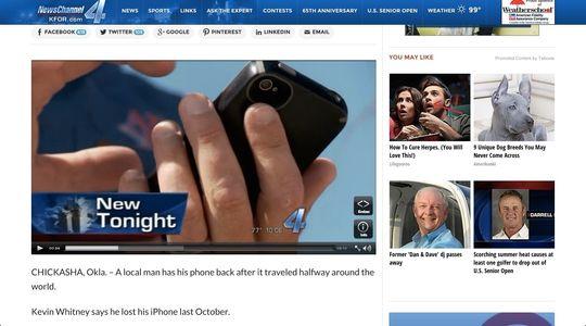 iPhonen til Whitney fungerer fortsatt i beste velgående.