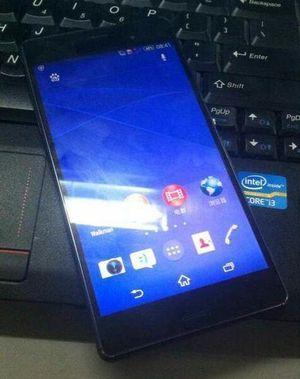 Sony Xperia Z3 forside, lekket bilde.
