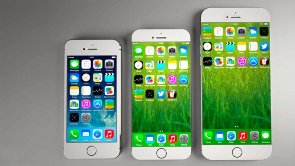 Slik ser en konseptdesigner for seg at den kommende iPhone-familien vil se ut.