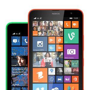 Slik ser startskjermen ut med Lumia Cyan installert.