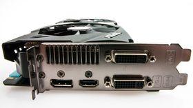 Asus GeForce GTX 780 Strix OC byr på to DVI-utganger, samt DisplayPort og HDMI.