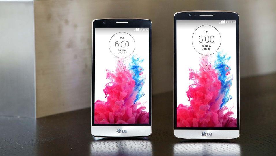LG G3 Beat til venstre, LG G3 til høyre