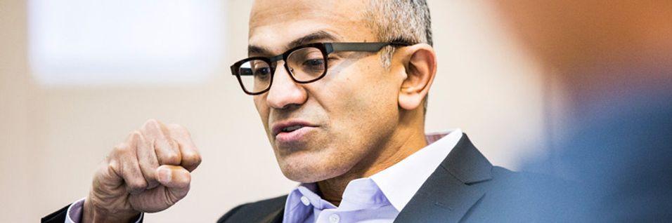 Microsoft-direktør Sataya Nadella vil kvitte seg med 12.500 ansatte fra Nokias mobilvirksomhet, som Microsoft kjøpte i april i år.