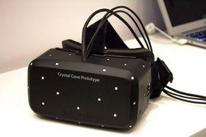 Oculus jobber stadig med å forbedre Rift. Dette er Crystal Cove-prototypen som DK2 er basert på.
