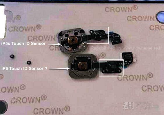 Den nederste Touch ID-sensoren kan være den som er beregnet på iPhone 6.