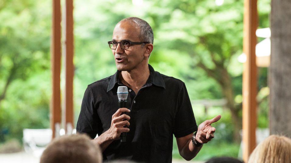 Satya Nadella, administrerende direktør i Microsoft.