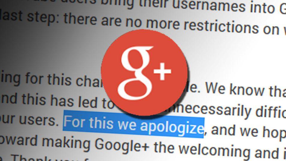 Google beklager tabben