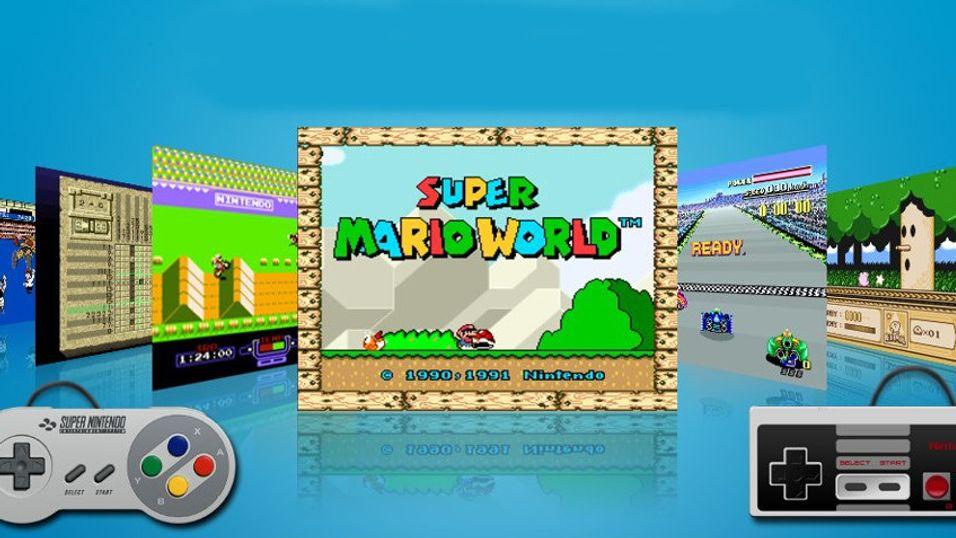 Du kan spille klassiske spill på Wii U.