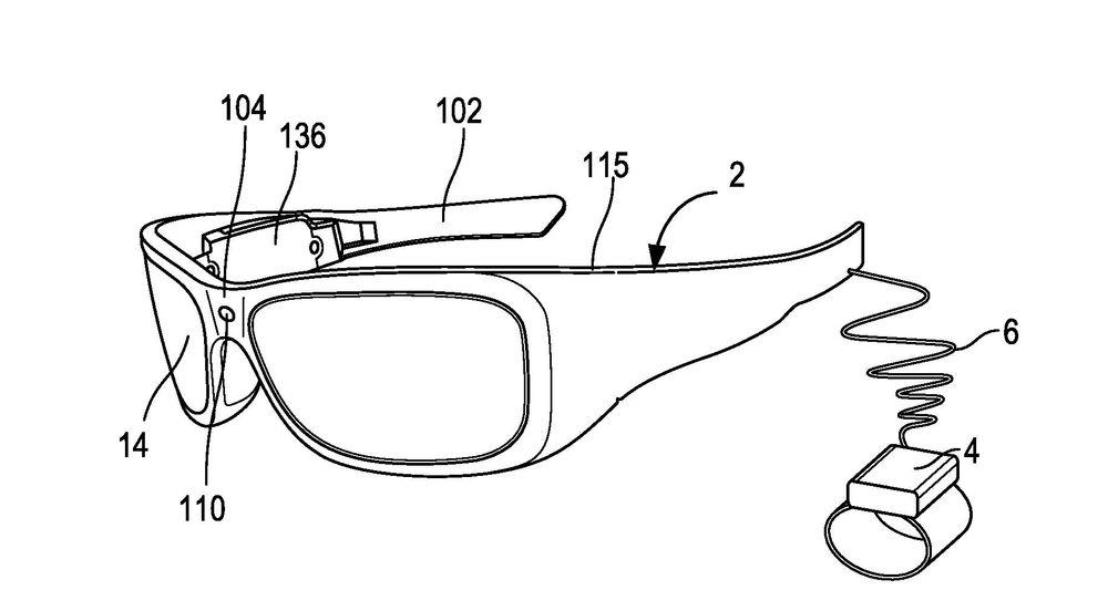 Patenterer smarte briller som kjenner igjen objekter