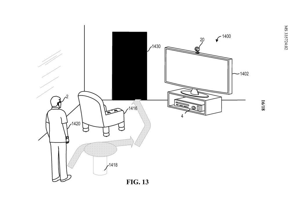 Mens du forholder deg til virtuelle ting i brillene, vil du kunne bli varslet om at du må svinge unna bordet som står foran deg.