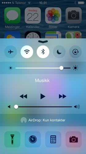 Kontrollsenteret i iOS 8 beta 4 har fått en ansiktsløftning.