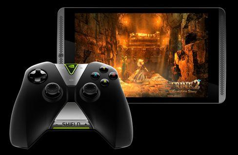 Fullversjonen av spillet Trine 2 følger med på kjøpet med Nvidia Shield Tablet – men håndkontrolleren må kjøpes ved siden av.