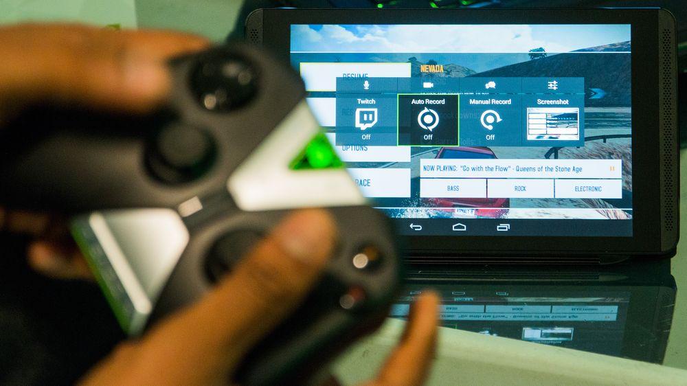 Nvidia Shield Tablet kan både strømme direkte til Twitch og ta opp spilløkter med den samme Shadowplay-funksjonen vi kjenner fra PC.