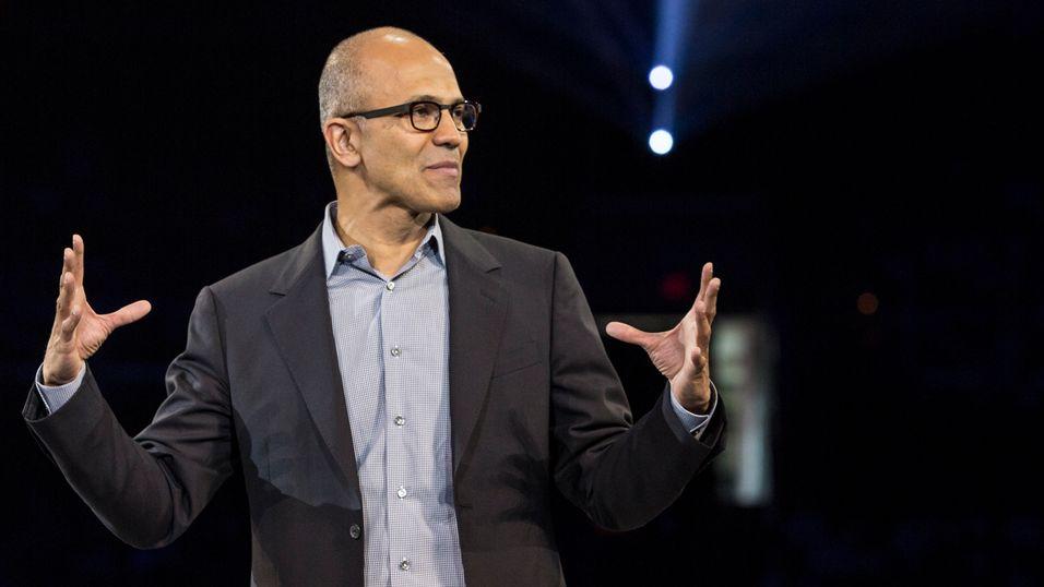 Satya Nadella, sjef i Microsoft.
