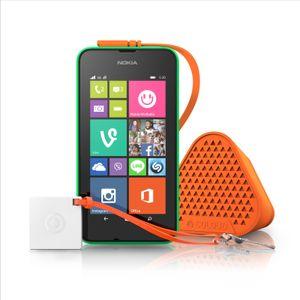 I tillegg til Lumia 530 lanserte Microsoft også minihøyttaleren Bang by Coloud.