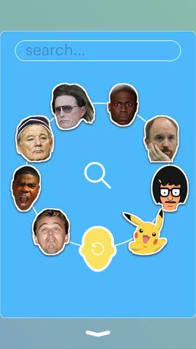 Du kan også bruke «Imoji»-er som andre har laget. Kjendiser er tilsynelatende populære å bruke.