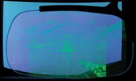 Dette er hva piloten ser gjennom den integrerte skjermen  i hjelmen.
