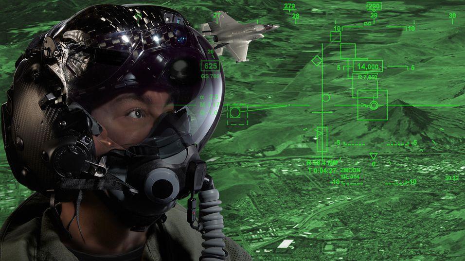 Denne hjelmen skal gjøre jagerflypiloter mer effektive.