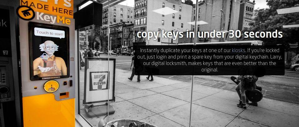 Denne automaten printer ut en ny nøkkel på under 30 sekunder.