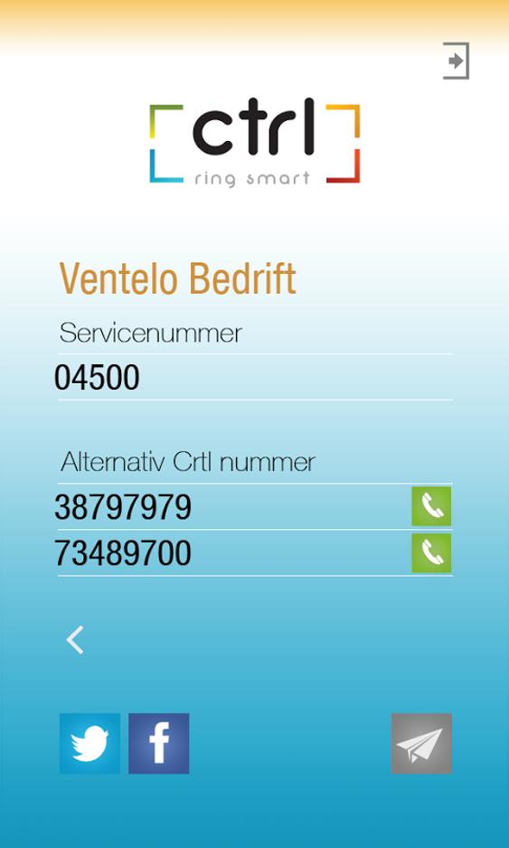 Slik er grensesnittet i appen Ctrl Ring Smart.