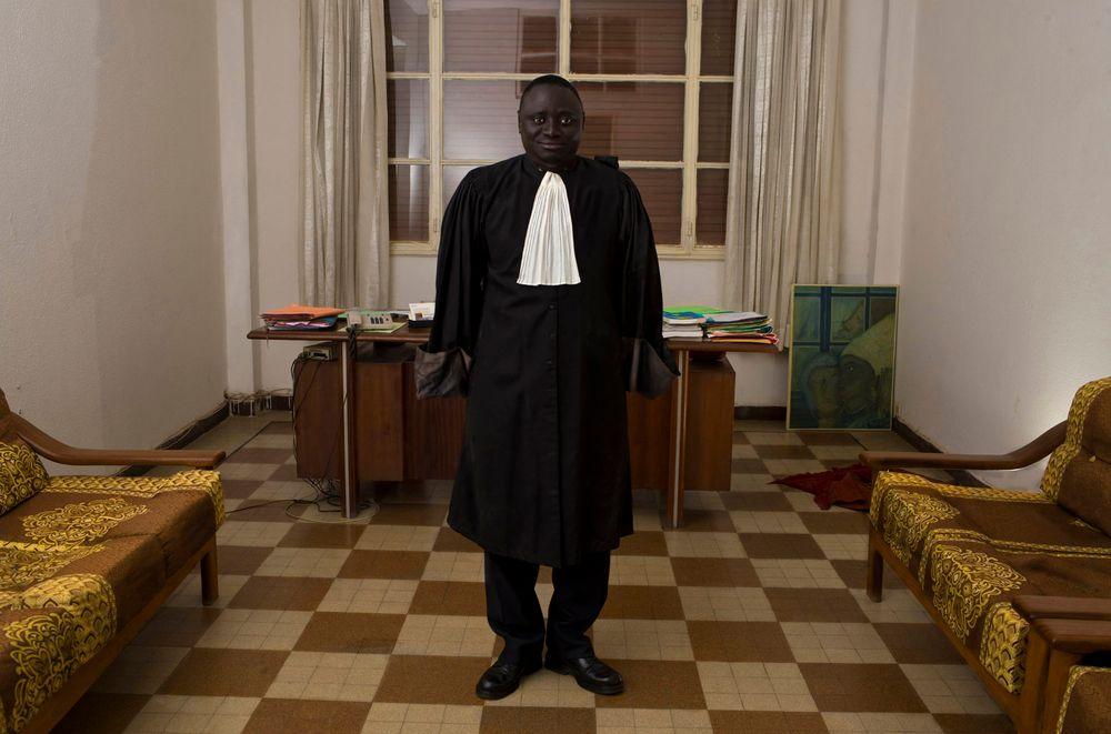 Advokat Fagbemi Lateef, slik De Middel ser ham for seg.