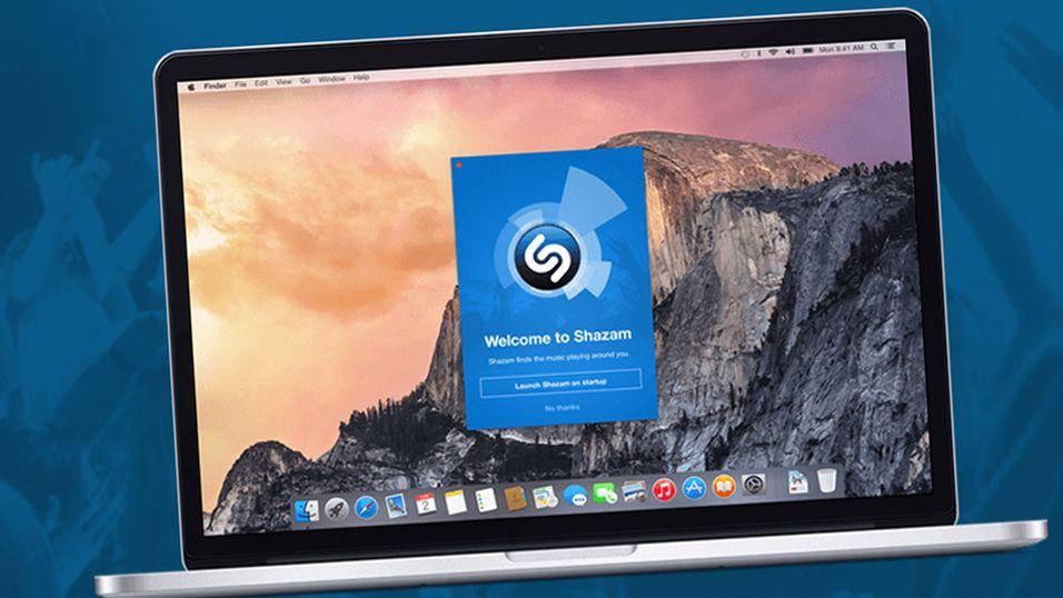 Shazam lansert til Mac