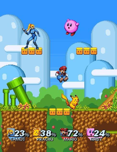 Super Smash Bros SNES slik NeoGAF-brukaren FantasticMrFoxdie ser det for seg.