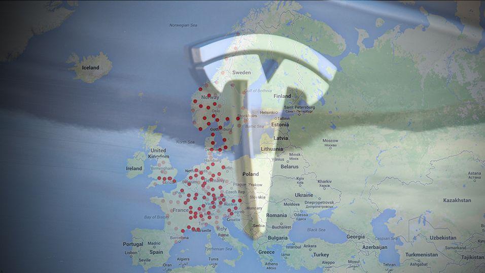 Her vil Tesla bygge ladestasjoner i Norge