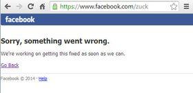 Ikke engang grunnlegger Mark Zuckerberg sin Facebook-profil ser ut til å fungere.