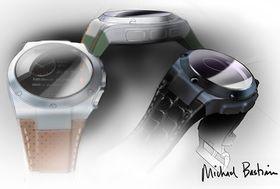 Flere konseptbilder av klokken signert Michael Bastian.
