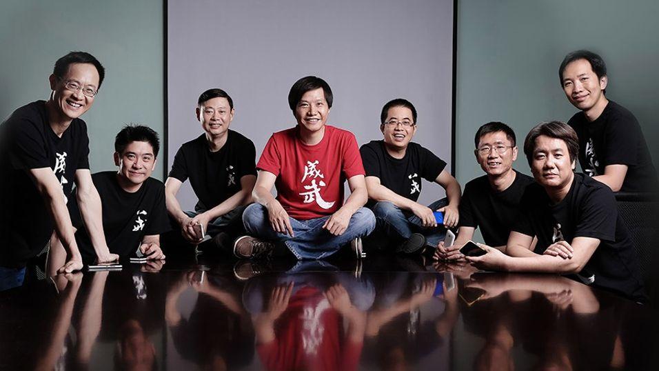 Xiaomi har visstnok en PC på gang. Her er ledelsen i selskapet, med direktør Lei Jun i midten.