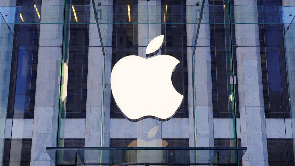 Illustrasjonsfoto. Apple Store, New York, NY, USA.