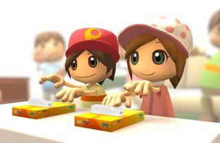 I Let's Tap skal opptil fire spillere konkurrere i ulike minispill ved å dunke fingrene mot pappesker.
