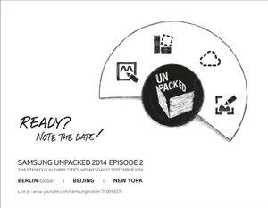 Samsung levner ikke mye tvil om hva som skal lanseres på onsdag.