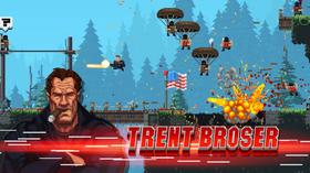 Trent Broser er ein av dei sju våpenglade heltane i The Expendabros.