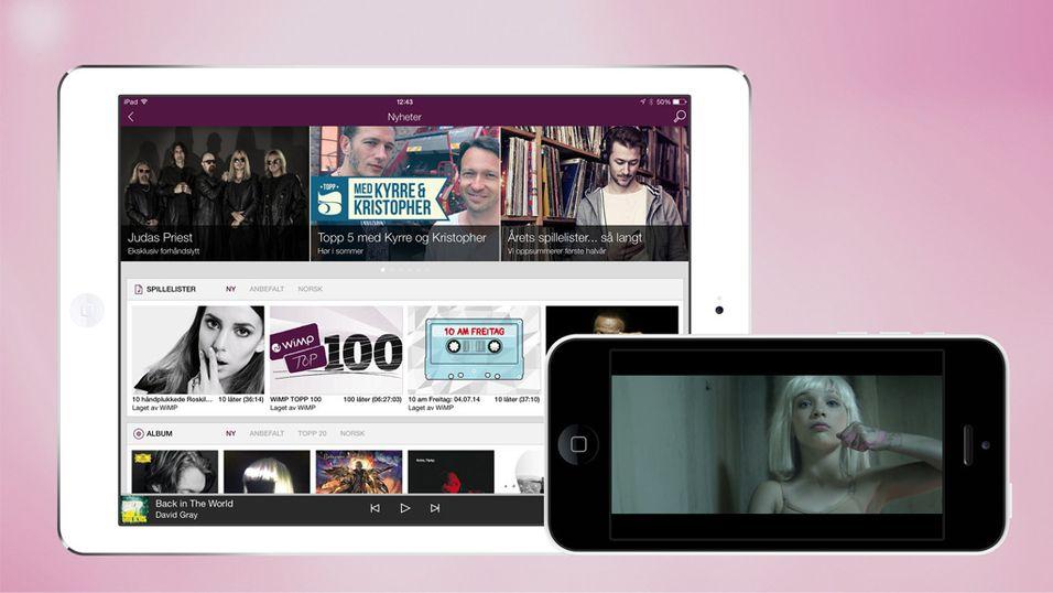 I dag får du ny WiMP til iPhone og iPad