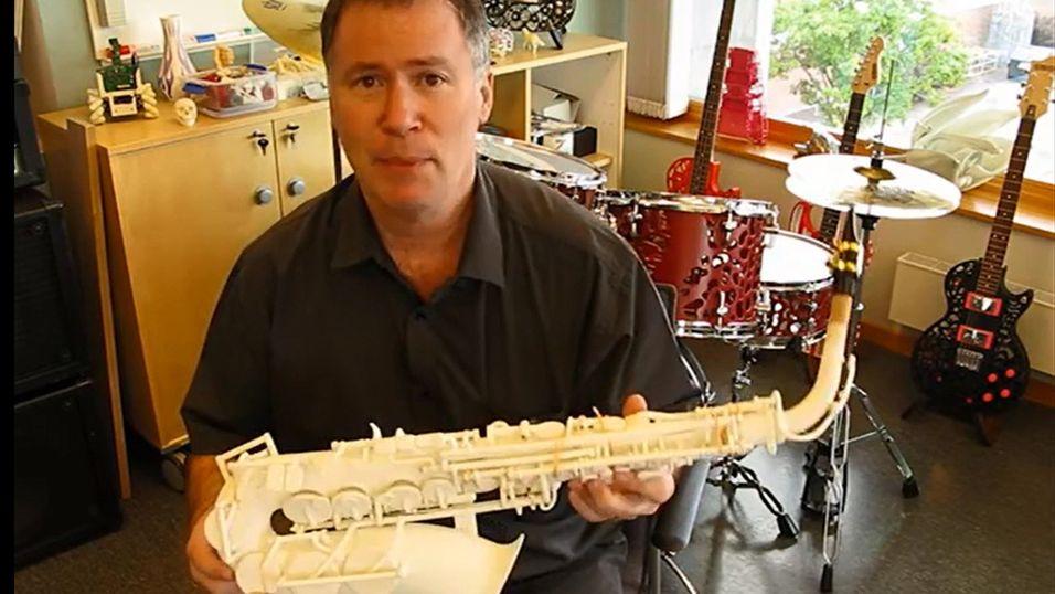 Hør hvordan en 3D-printet saksofon låter