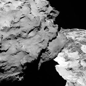 Dette bildet er tatt bare 120 kilometer unna kometen.
